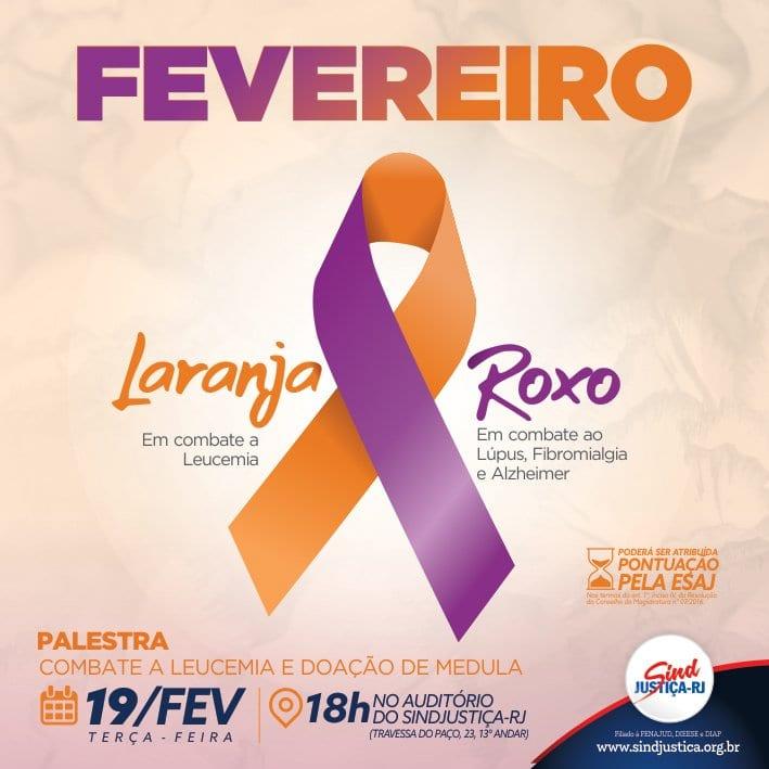 8e6103f50cd0e Fevereiro roxo e laranja  campanha conscientiza sobre prevenção a ...
