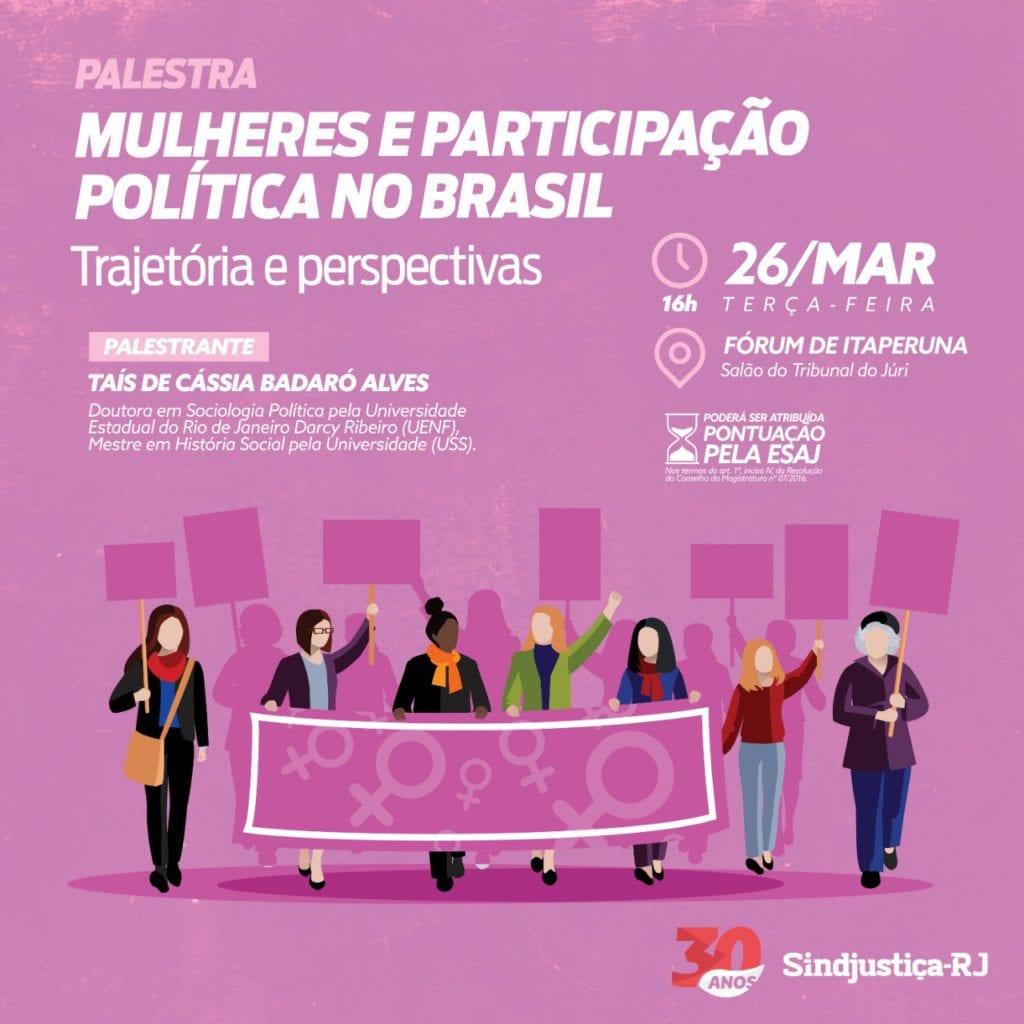 308bc621758 Sindjustiça-RJ realizará palestra em Itaperuna sobre participação ...